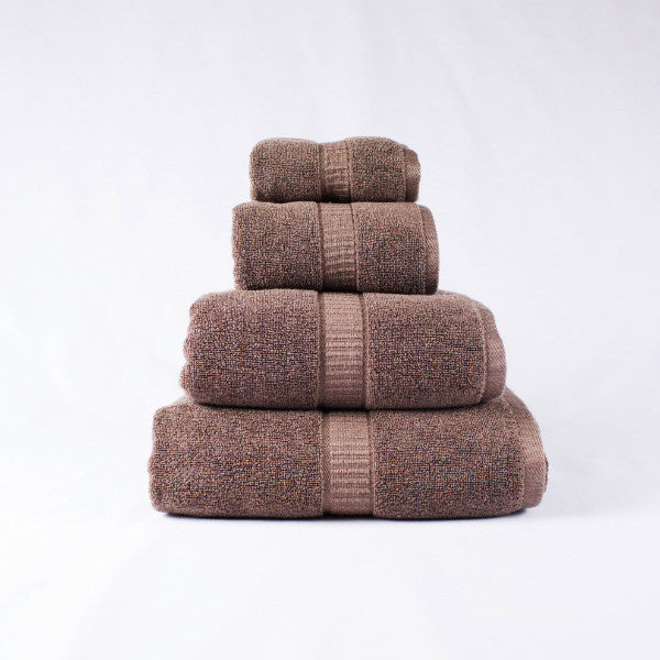 Gentle Natural Bamboo Cotton Washcloth, Brown