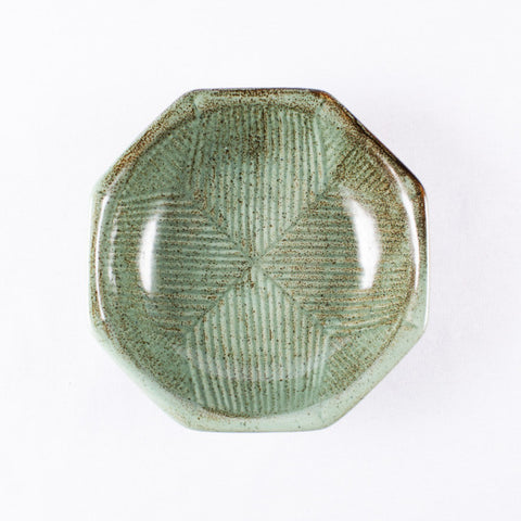 Jade Green Octagon Shaped Bowl