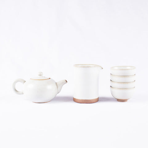 Tea Set, Creamy White II