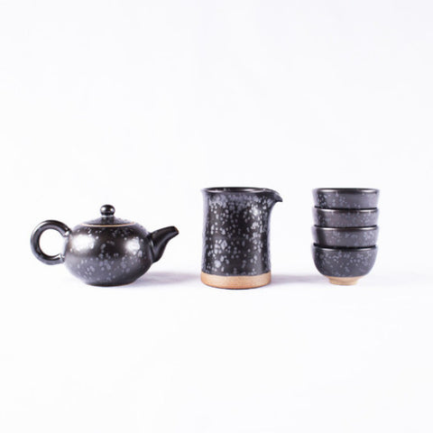 Tea Set, Glazed Black