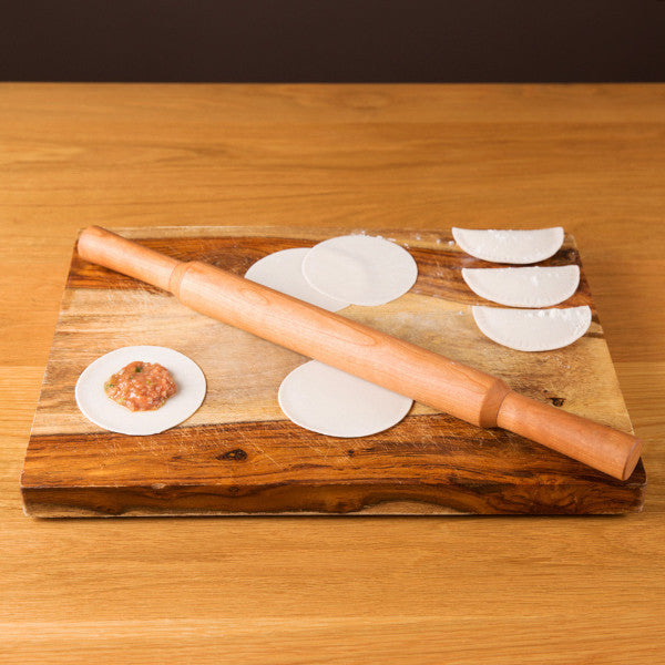 Asian Cooking Cherry Rolling Pin, Flat End