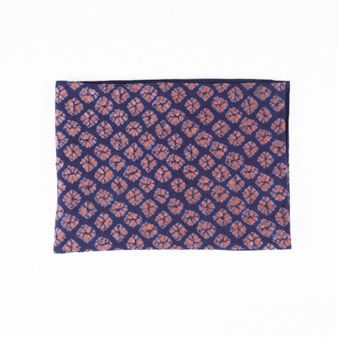 Indigo Tie Dye Throw, Flowers II
