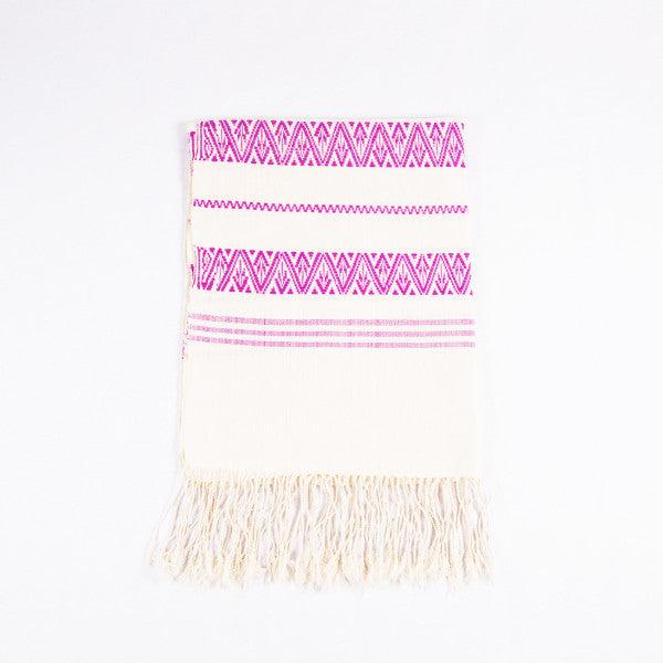 Purple Dai Handwoven Table Runner, Geometric Patterns