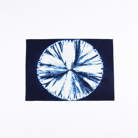Tie Dye Sunflower Pattern Placemat, Indigo