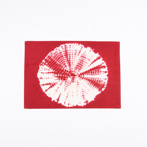 Tie Dye Sunflower Pattern Placemat, Burgundy
