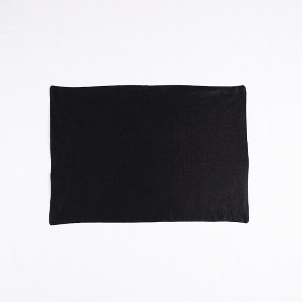 The Gourmet French Linen Placemat, Charcoal Black