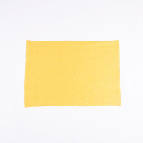 The Gourmet French Linen Placemat, Ginger Yellow