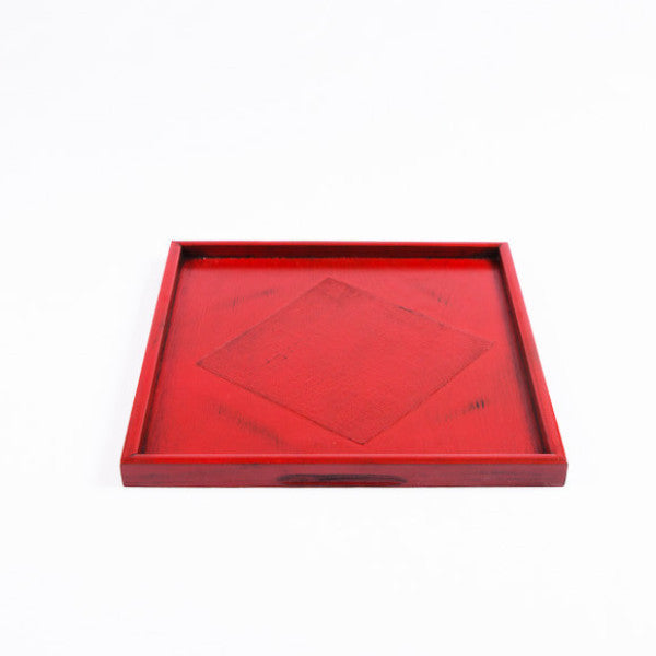 Lacquer Wood Tray, Red