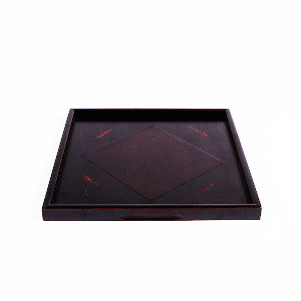 Lacquer Wood Tray, Black