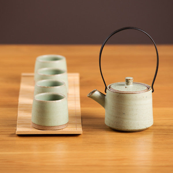 Tea Set, Milky Green I