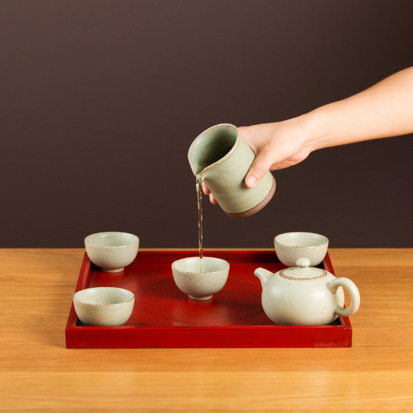 Tea Set, Milky Green II