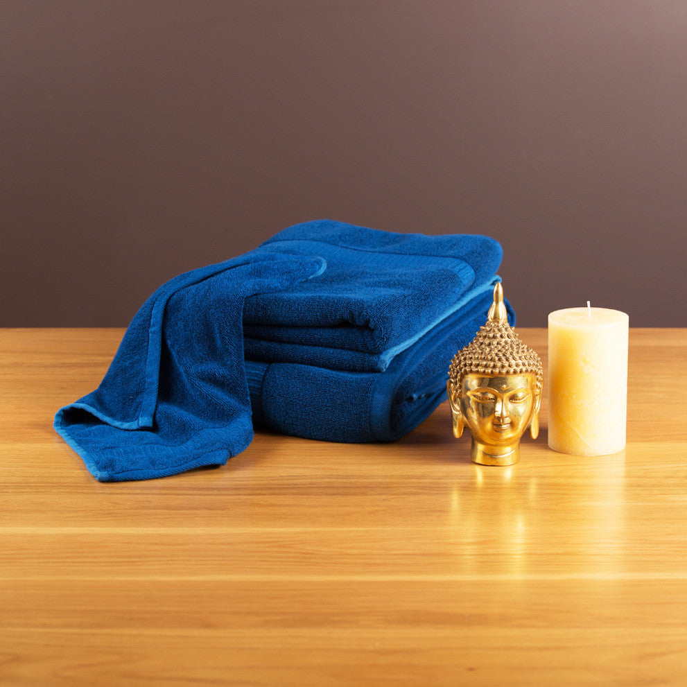 Gentle Natural Bamboo Cotton Bath Towel, Indigo