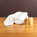 Gentle Natural Bamboo Cotton Hand Towel, White