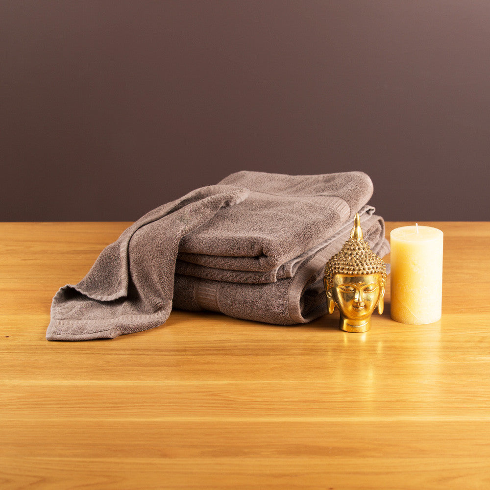 Bamboo Bath Towel, Brown