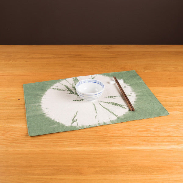 Tie Dye Sunflower Pattern Placemat, Avocado