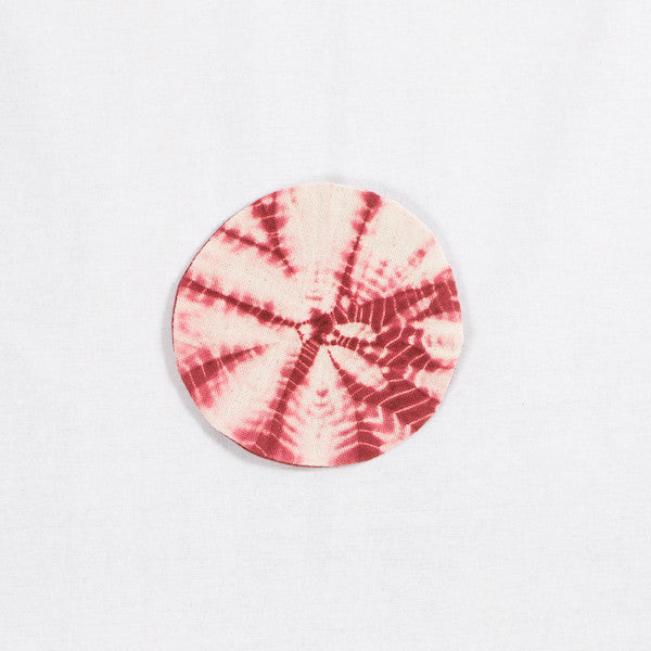 Tie Dye Sunflower Pattern Coaster, Burgundy