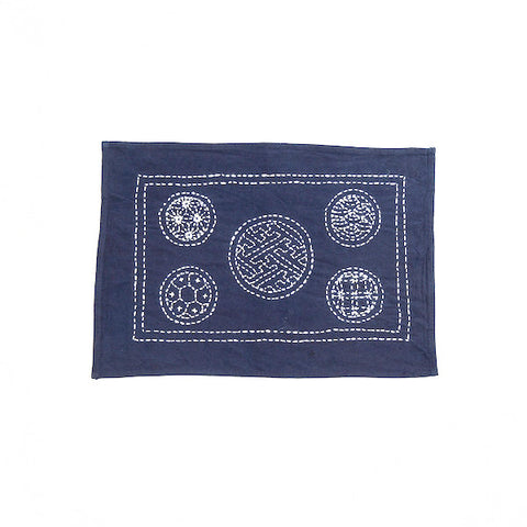 Hand-stitched Cotton Placemat, Circle