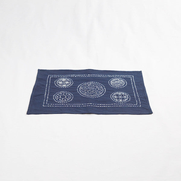 Hand-stitched Cotton Handmade Placemat, Circle