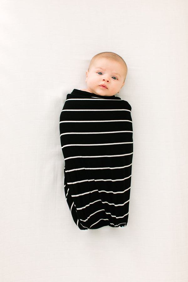Breton Stripe | SWADDLE - Dwell and Slumber house dress gold snaps