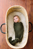 Olive Plaid | SWADDLE - Dwell and Slumber house dress gold snaps
