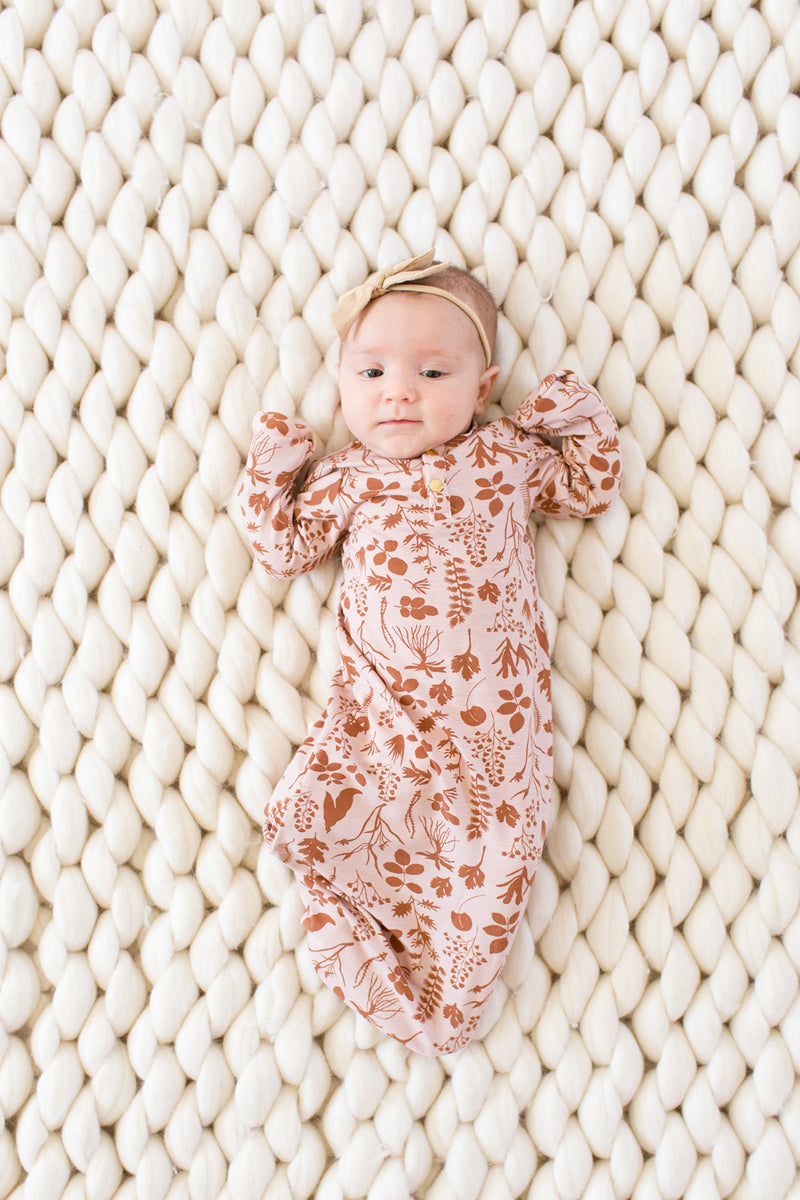 Autumn | BABY - Dwell and Slumber house dress gold snaps