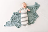 Chambray | SWADDLE - Dwell and Slumber house dress gold snaps