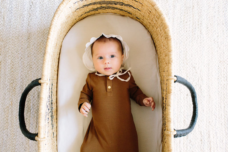 Onyx | BABY - Dwell and Slumber house dress gold snaps