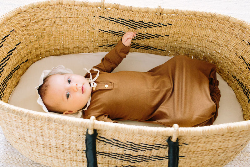 Copper | BABY - Dwell and Slumber house dress gold snaps