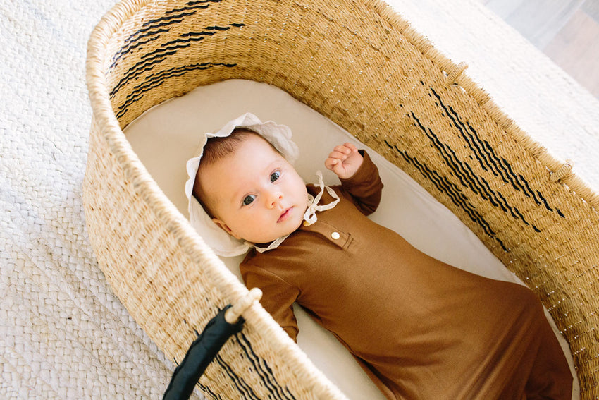 Willa | BABY - Dwell and Slumber house dress gold snaps