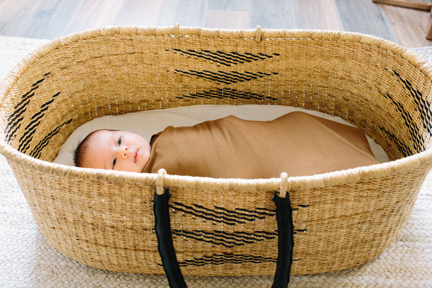 Camel | SWADDLE - Dwell and Slumber house dress gold snaps