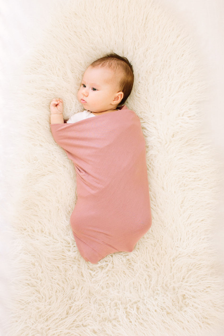 Mauve Pink | SWADDLE - Dwell and Slumber house dress gold snaps