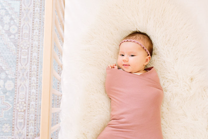 Mauve | SWADDLE - Dwell and Slumber house dress gold snaps