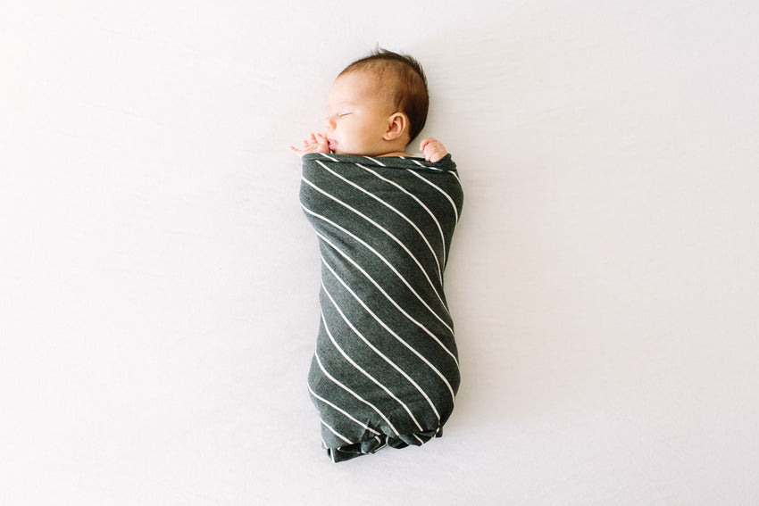London Stripe | SWADDLE - Dwell and Slumber house dress gold snaps