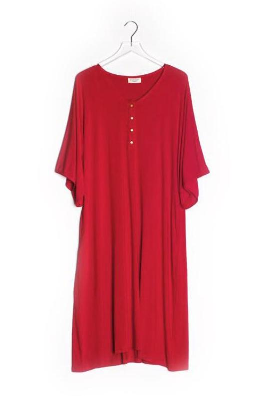 Scarlet | CAFTAN - Dwell and Slumber house dress gold snaps