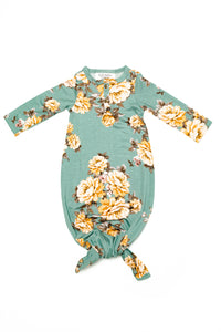 Dawn | BABY - Dwell and Slumber house dress gold snaps