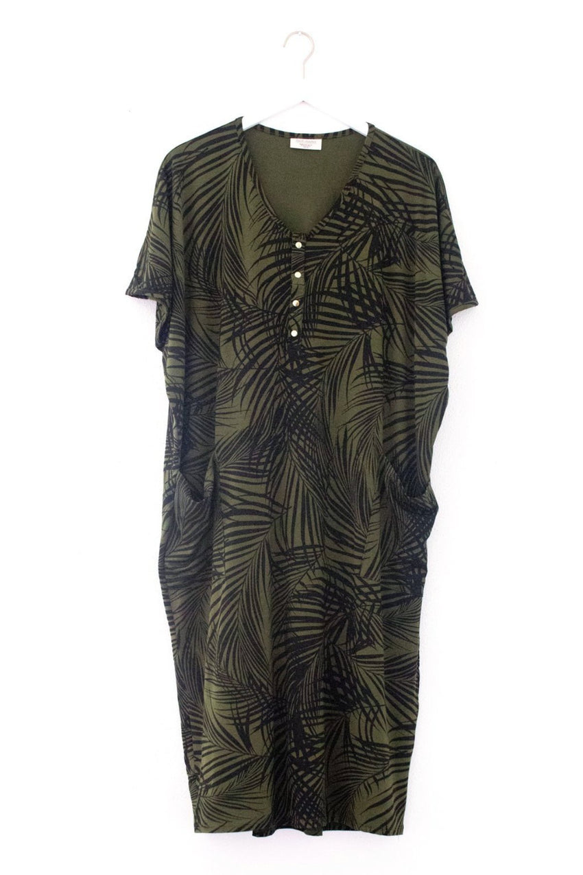 Palm Springs | COCOON - Dwell and Slumber house dress gold snaps