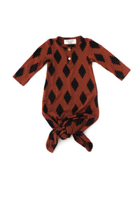 Copper Aztec | BABY - Dwell and Slumber house dress gold snaps