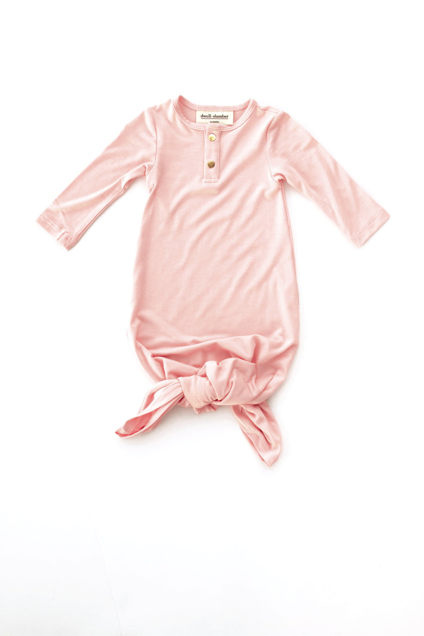 Blush Pink | BABY - Dwell and Slumber house dress gold snaps