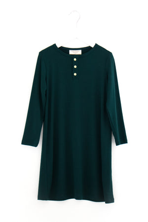 Emerald | GIRLS' - Dwell and Slumber house dress gold snaps