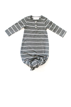London Stripe | BABY - Dwell and Slumber house dress gold snaps
