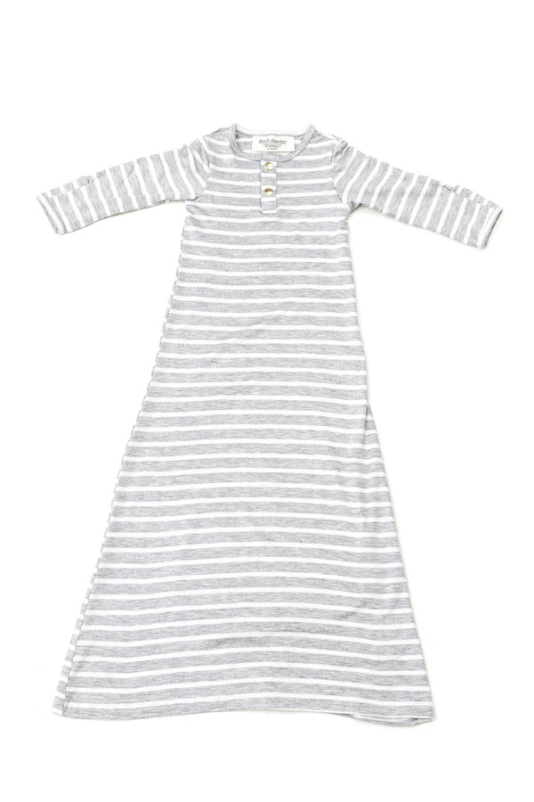 Harper Stripe | BABY - Dwell and Slumber house dress gold snaps
