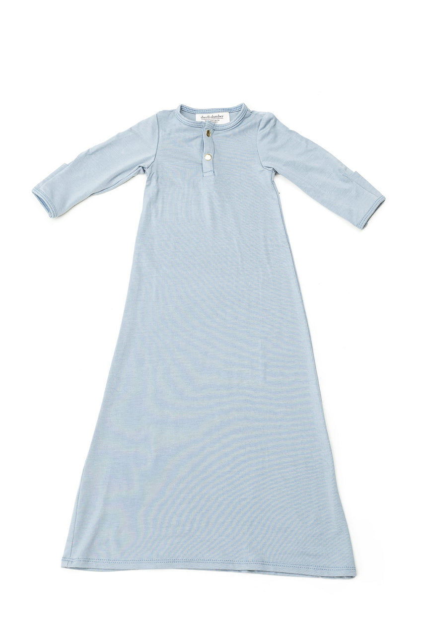 Chambray | BABY - Dwell and Slumber house dress gold snaps