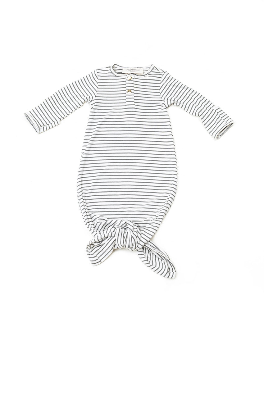 Olive Stripe | BABY - Dwell and Slumber house dress gold snaps