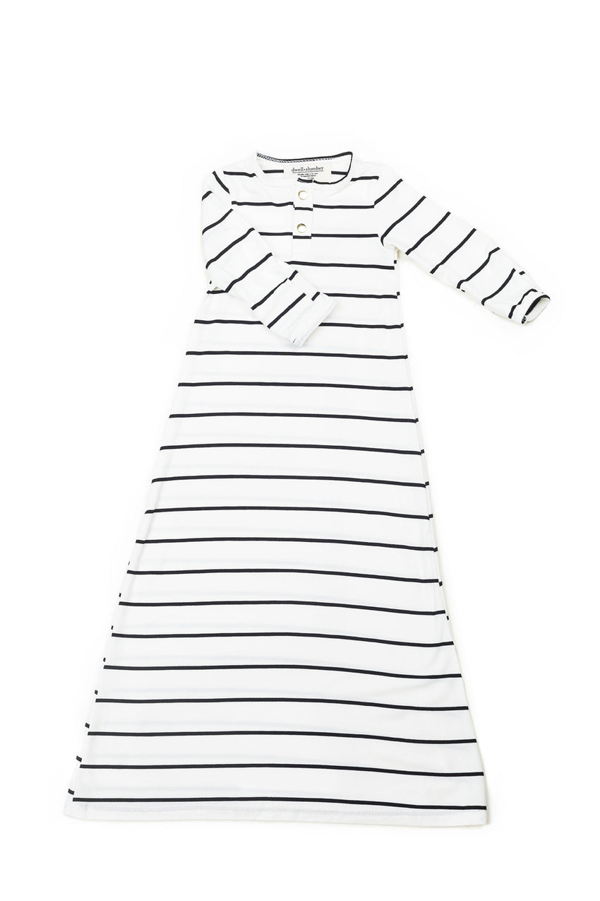 Breton Stripe | BABY - Dwell and Slumber house dress gold snaps