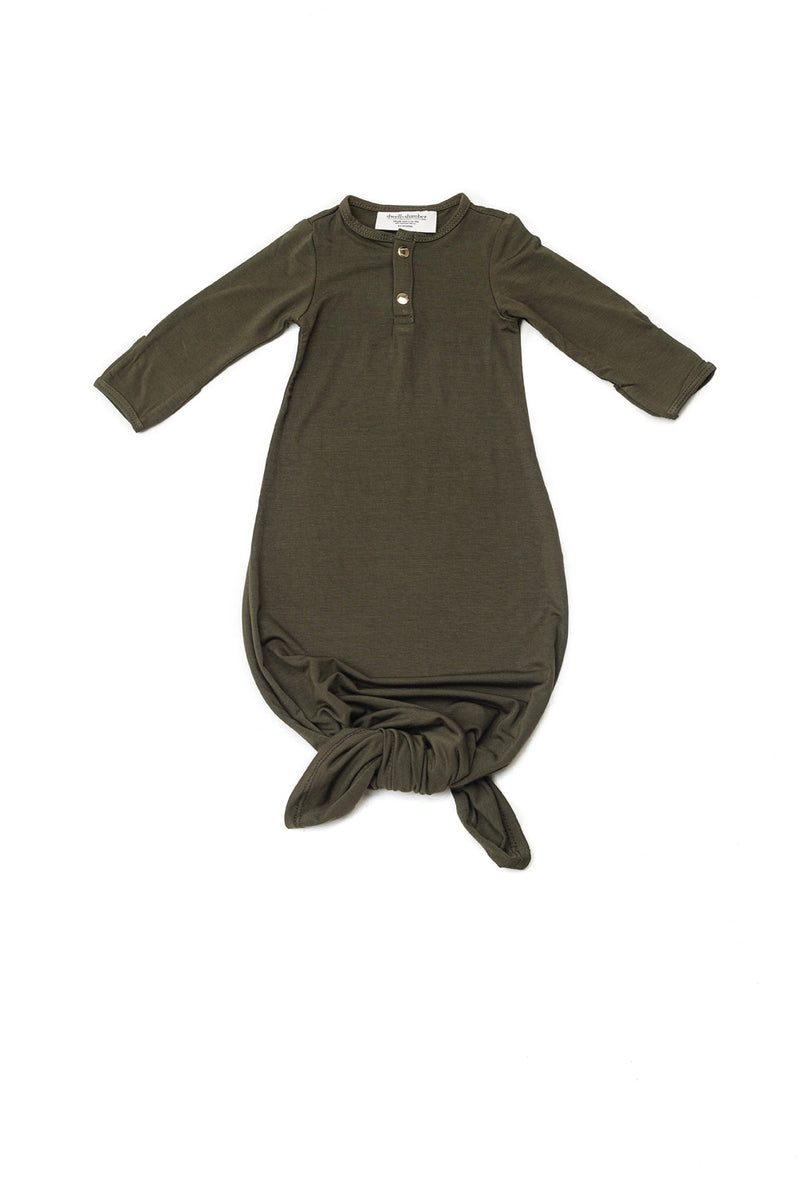 Olive | BABY - Dwell and Slumber house dress gold snaps