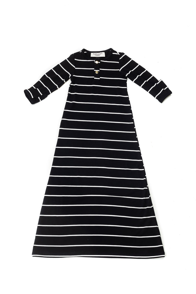 Valencia | BABY - Dwell and Slumber house dress gold snaps