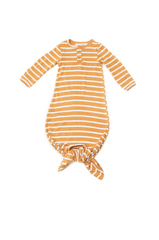 Mustard Stripe | BABY - Dwell and Slumber house dress gold snaps