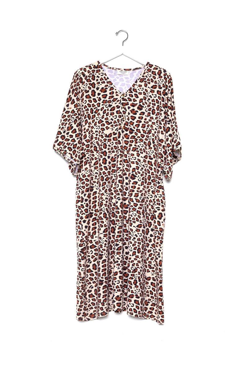 Leo | CAFTAN - Dwell and Slumber house dress gold snaps
