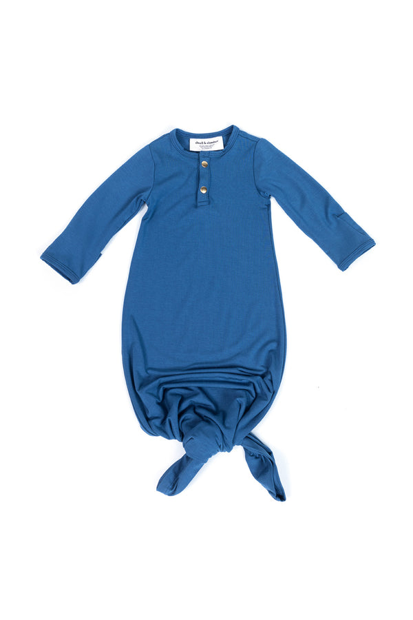 Denim | BABY - Dwell and Slumber house dress gold snaps