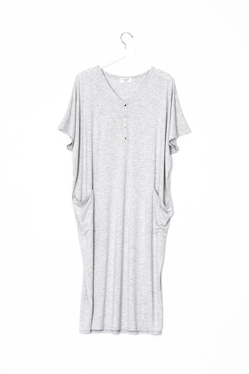 Marble | COCOON - Dwell and Slumber house dress gold snaps